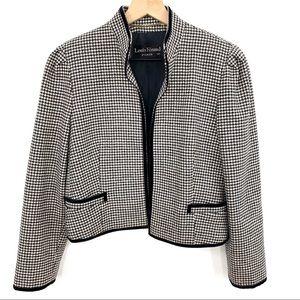 Louis Feraud Classic Black + White Check Jacket